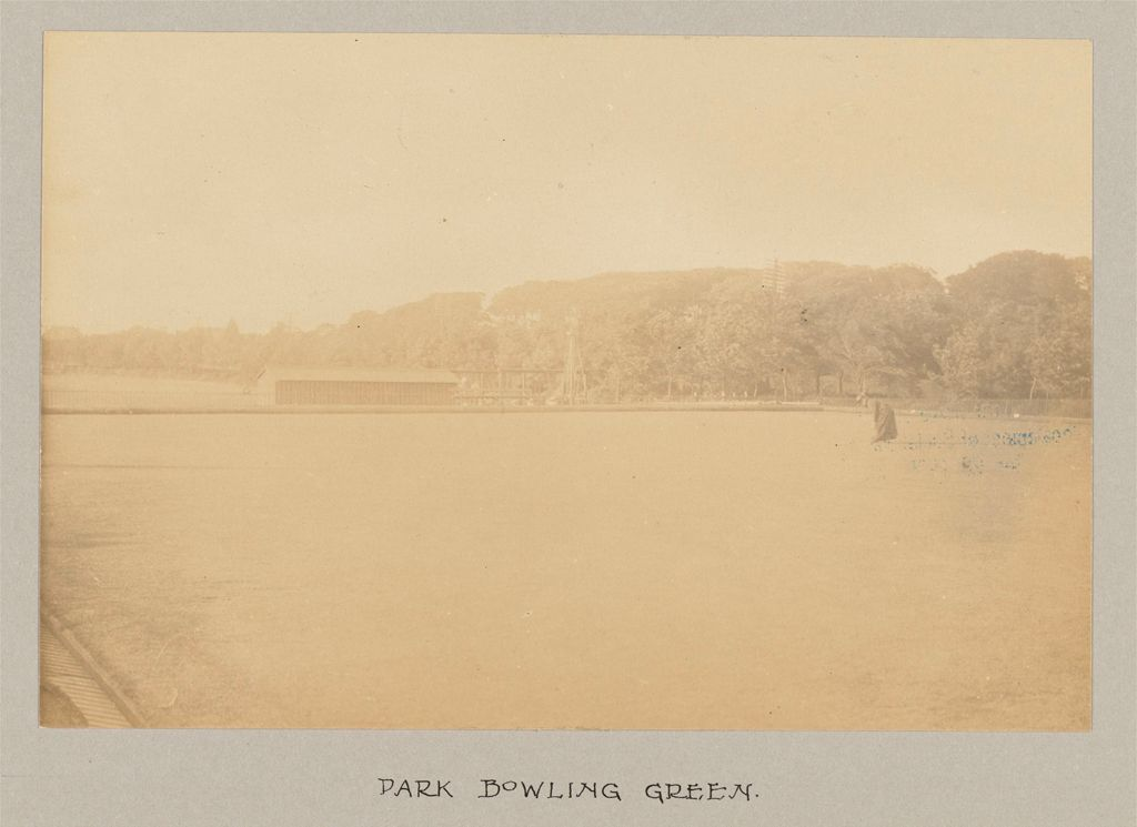 Recreation, Parks And Playgrounds: Great Britain, Scotland. Glasgow. Public Park: Social Conditions In Glasgow, Scotland, 1903: Park Bowling Green.