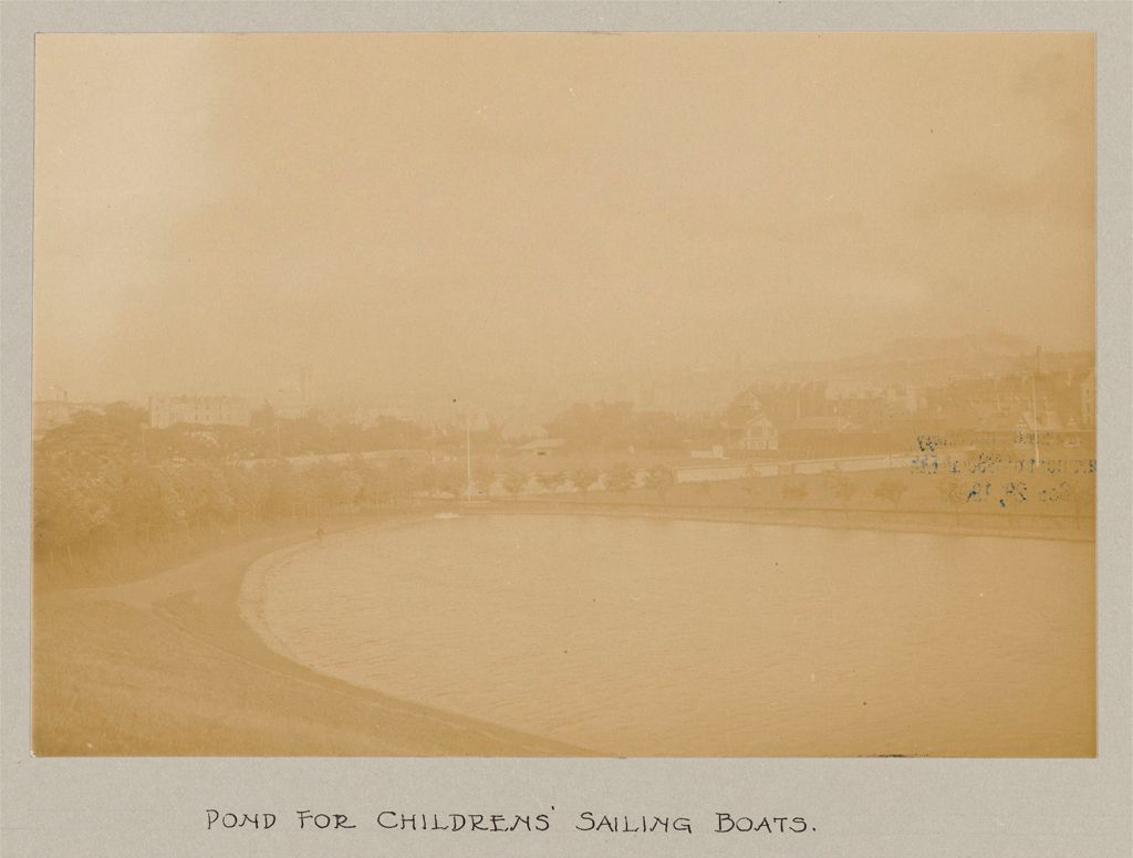 Recreation, Parks And Playgrounds: Great Britain, Scotland. Glasgow. Public Park: Social Conditions In Glasgow, Scotland, 1903: Pond For Childrens' Sailing Boats.