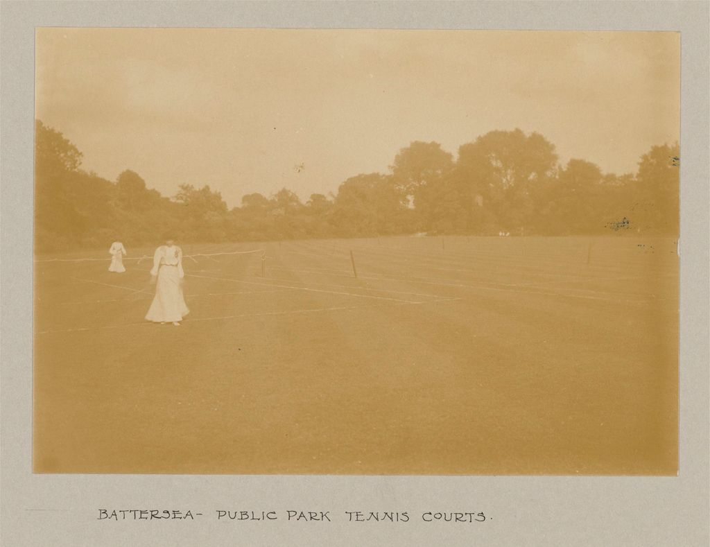 Recreation, Parks And Playgrounds: Great Britain, England. London. Playgrounds And Parks: Social Conditions In London, England, 1903: Battersea - Public Park Tennis Courts.