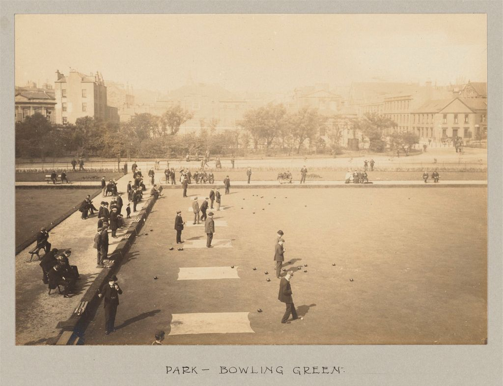 Recreation, Parks And Playgrounds: Great Britain, Scotland. Glasgow. Public Park: Social Conditions In Glasgow, Scotland, 1903: Park - Bowling Green.