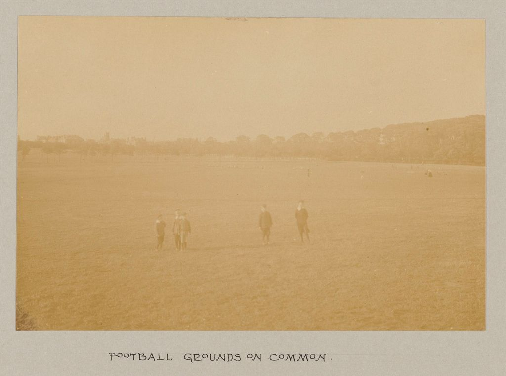 Recreation, Parks And Playgrounds: Great Britain, Scotland. Glasgow. Public Park: Social Conditions In Glasgow, Scotland, 1903: Football Grounds On Common.
