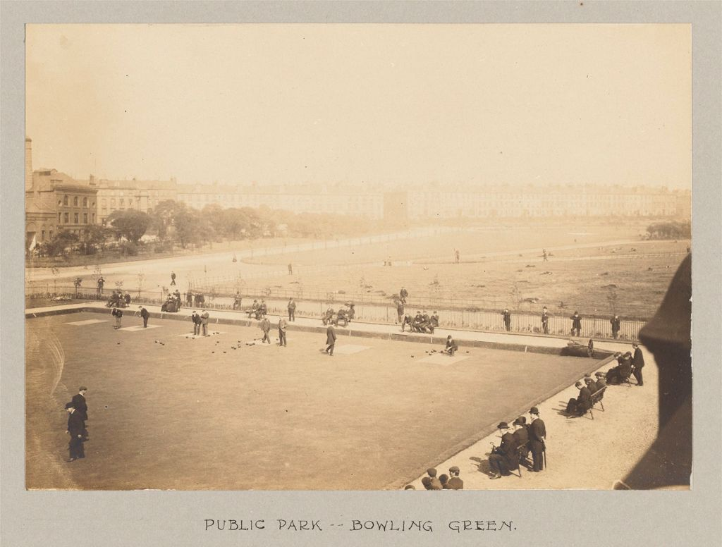 Recreation, Parks And Playgrounds: Great Britain, Scotland. Glasgow. Public Park: Social Conditions In Glasgow, Scotland, 1903: Public Park - Bowling Green.