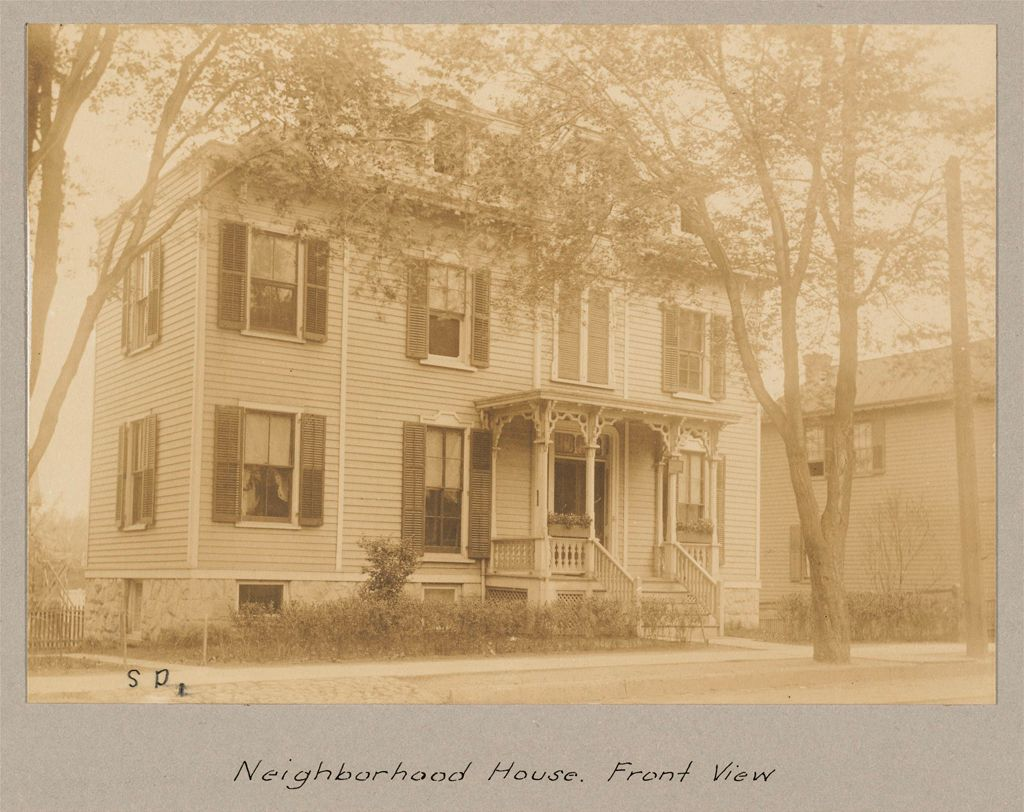 Social Settlements: United States. New Jersey. Englewood.
