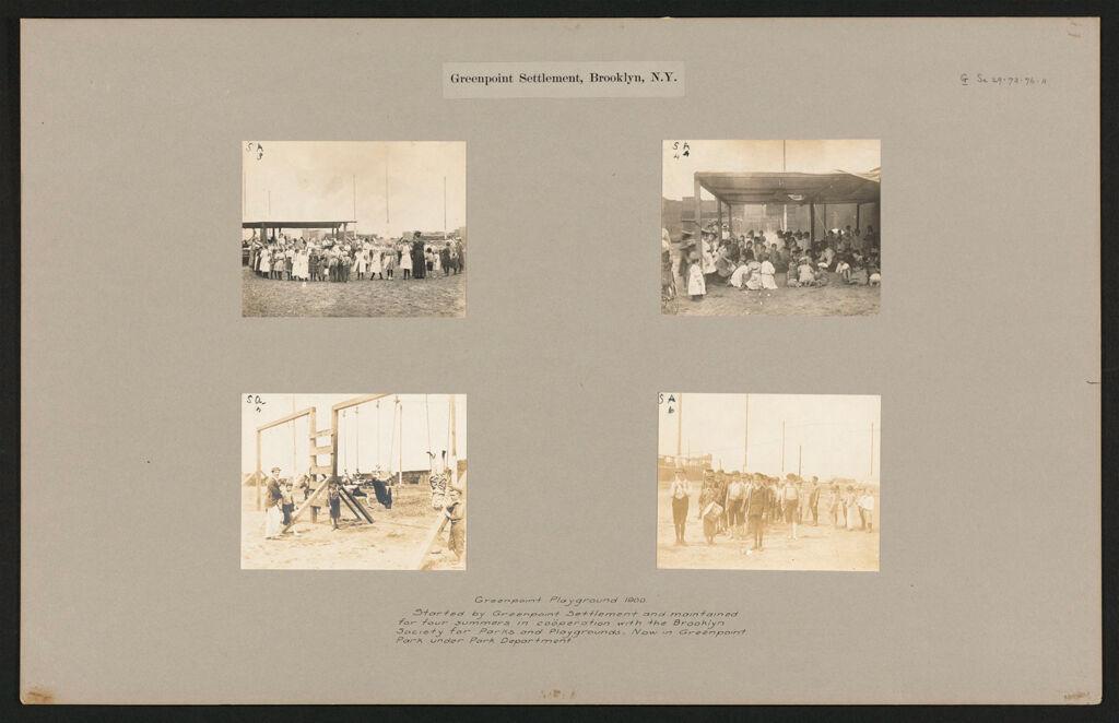 Social Settlements: United States. New York. Brooklyn.