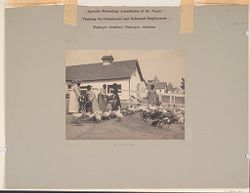 Races, Negroes: United States. Alabama. Tuskegee. Tuskegee Institute: Agencies Promoting Assimilation of the Negro: Training for Commercial and Industrial Employment. Tuskegee Institute, Tuskegee, Alabama: Poultry Yard..   Social Museum Collection