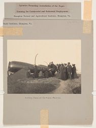 Races, Negroes: United States. Virginia. Hampton. Hampton Normal and Industrial School: Agencies Promoting Assimilation of the Negro: Development of Social Standards Among the Negroes. Hampton Normal and Agricultural Institute, Hampton, Va.: History Class at Fortress Monroe..   Social Museum Collection