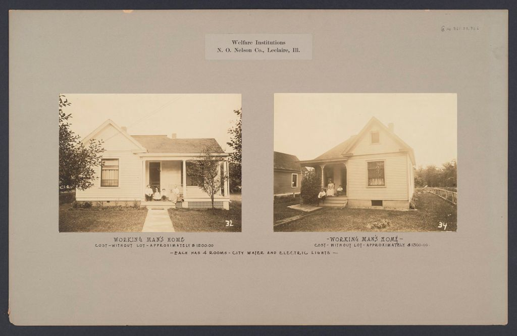 Industrial Problems, Welfare Work: United States. Illinois. Leclaire. Nelson Manufacturing Company: Welfare Institutions. N.o. Nelson Co., Leclaire, Ill.