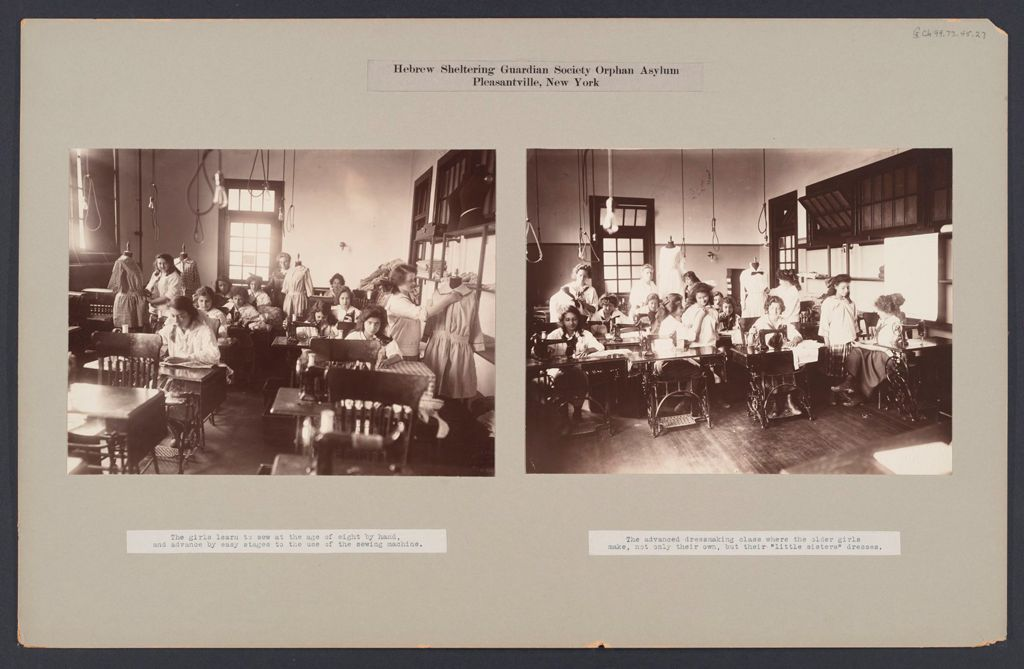 Charity, Children: United States. New York. Pleasantville. Hebrew Sheltering Guardian Society: Hebrew Sheltering Guardian Society Orphan Asylum, Pleasantville, New York