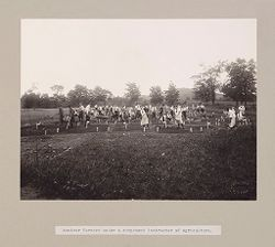 Charity, Children: United States. New York. Pleasantville. Hebrew Sheltering Guardian Society: Hebrew Sheltering Guardian Society Orphan Asylum, Pleasantville, New York: Amateur farmers under a competent instructor of agriculture..   Social Museum Collection