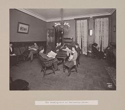 Charity, Children: United States. New York. Pleasantville. Hebrew Sheltering Guardian Society: Hebrew Sheltering Guardian Society Orphan Asylum, Pleasantville, New York: The reading-room at Fellowship House..   Social Museum Collection