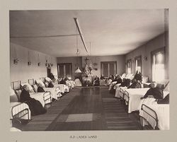 Charity, Children: United States. New York. Ogdensburg. Orphan Asylum: City Hospital and Orphanage, Ogdensburg, N.Y. (Under the direction of the Grey Nuns of the Cross): Old Ladies Ward..   Social Museum Collection