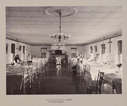 Charity, Children: United States. New York. Ogdensburg. Orphan Asylum: City Hospital and Orphanage, Ogdensburg, N.Y. (Under the direction of the Grey Nuns of the Cross): The Helen Hall Ward for Sick Women..   Social Museum Collection