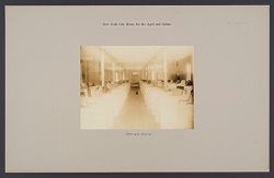 Charity, Aged: United States. New York. New York City. Home for Aged and Infirm, Manhattan Division, Blackwell's Island: New York City Home for the Aged and Infirm: Female Ward..   Social Museum Collection