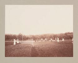 Charity, Children: United States. New York. Pleasantville. Hebrew Sheltering Guardian Society: Hebrew Sheltering Guardian Society Orphan Asylum, Pleasantville, New York: Outdoor sports for the older girls..   Social Museum Collection