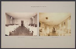 Charity, Hospitals: United States. New York. New York City. Metropolitan Hospital, Blackwell's Island: Metropolitan Hospital, New York City: Tuberculosis Infirmary..   Social Museum Collection