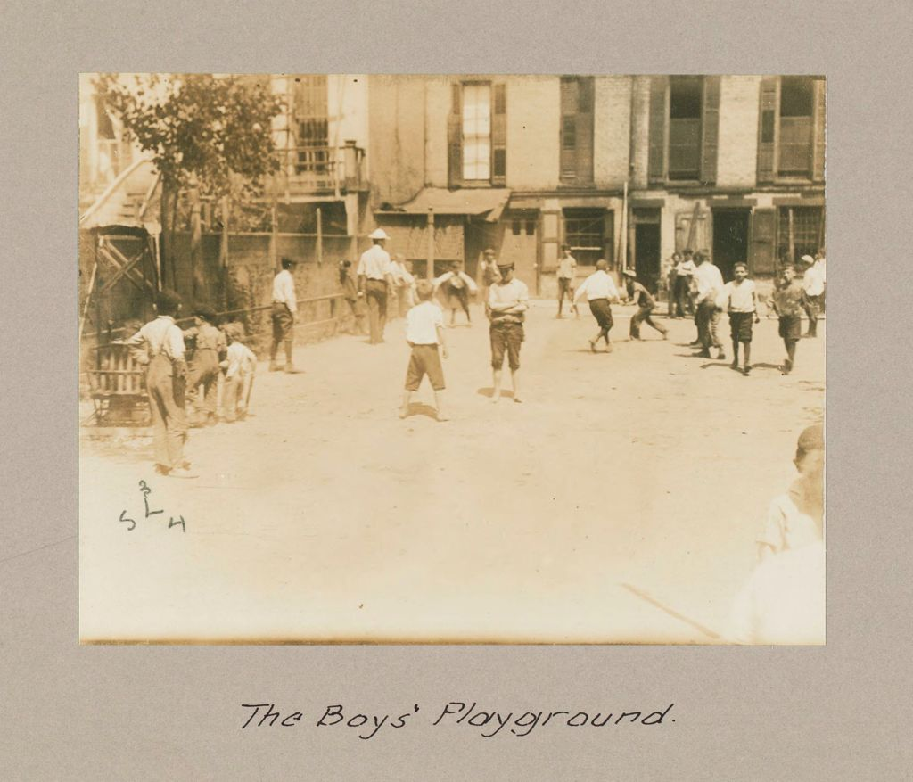 Social Settlements: United States. New York. New York City. Union Settlement: Union Settlement, New York City: The Boys' Playground.