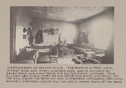 Housing, Conditions: United States. Wisconsin. Milwaukee. Tenements: Housing Conditions: Milwaukee: Sleeping room on second floor..   Social Museum Collection