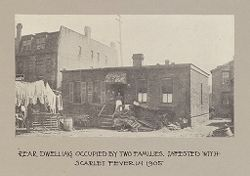 Housing, Conditions: United States. Wisconsin. Milwaukee. Tenements: Housing Conditions: Milwaukee: Rear dwelling occupied by two families..   Social Museum Collection