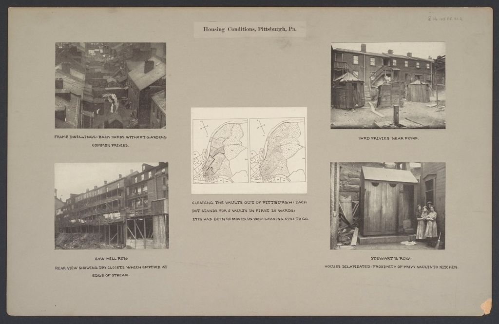 Housing, Conditions: United States. Pennsylvannia. Pittsburgh. Houses; Streets; Yards: Housing Conditions, Pittsburgh. Pa.