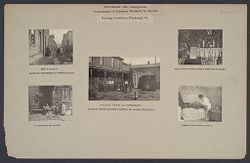 Housing, Conditions: United States. Pennsylvannia. Pittsburgh. Houses; Streets; Yards: Environment After Immigration, Perpeptuation of European Standards in America: Housing Conditions, Pittsburgh. Pa..   Social Museum Collection