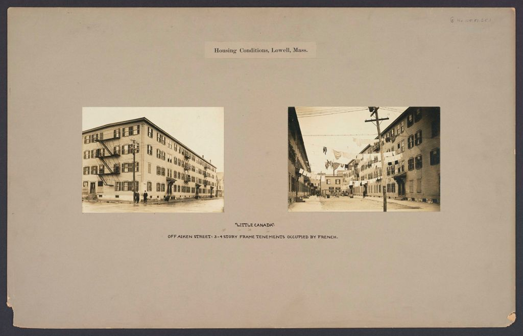 Housing, Conditions: United States. Massachusetts. Lowell. Tenements In French, Greek, And Polish Districts: Housing Conditions, Lowell, Mass.