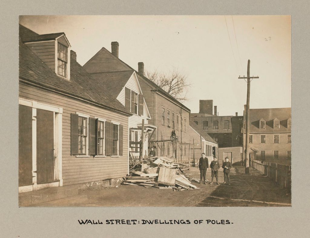 Housing, Conditions: United States. Massachusetts. Lowell. Tenements In French, Greek And Polish Districts: Environment After Immigration, Perpetuation Of European Standards In America: Wall Street: Dwellings Of Poles.