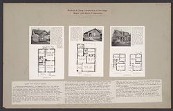 Housing, Industrial: United States. New York. Albany: Methods in Cheap Construction of Dwellings: Frame and Stucco Construction: Albany Home Building Co..   Social Museum Collection