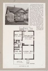 Housing, Industrial: United States. New York. Albany: Methods in Cheap Construction of Dwellings: Frame and Stucco Construction: Albany Home Building Co.: Plan 1..   Social Museum Collection