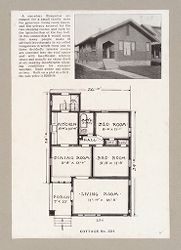 Housing, Industrial: United States. New York. Albany: Methods in Cheap Construction of Dwellings: Frame and Stucco Construction: Albany Home Building Co.: Plan 2..   Social Museum Collection