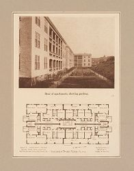 Housing, Improved: United States. Massachusetts. Boston. Boston Dwelling House Co. Woodbourne: Boston Dwelling House Company, Woodbourne: Diagram 1..   Social Museum Collection