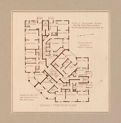Housing, Improved: United States. Massachusetts. Boston. Boston Dwelling House Co. Woodbourne: Boston Dwelling House Company, Woodbourne: Diagram 2..   Social Museum Collection