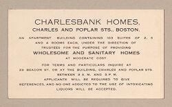 Housing, Improved: United States. Massachusetts. Boston: Improved Housing: Boston: Charlesbank Homes..   Social Museum Collection