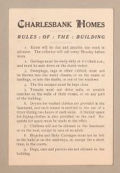 Housing, Improved: United States. Massachusetts. Boston: Improved Housing: Boston: Charlesbank Homes: Rules: Of: The: Building..   Social Museum Collection