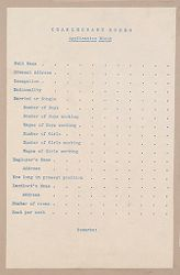 Housing, Improved: United States. Massachusetts. Boston: Improved Housing: Boston: Charlesbank Homes: Application Blank..   Social Museum Collection