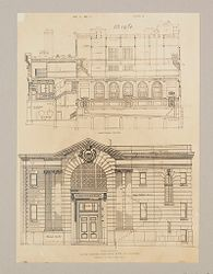 Health, Baths: United States. Massachusetts. Boston. Cabot Street Municipal Baths: Public Baths in the United States: Public Bath, Cabot Street, Boston, Mass.: Plan 1..   Social Museum Collection