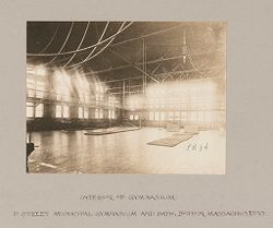 Health, Baths: United States. Massachusetts. Boston. D Street Municipal Gymnasium and Baths: Public Baths in the United States: Gymnasium, Interior of Gym, D Street Municipal Gymnasium and Bath, Boston, Massachusetts..   Social Museum Collection