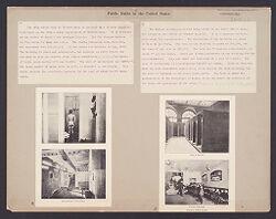 Health, Baths: United States. Pennsylvania. Philadelphia.  Massachusetts. Boston: Public Baths in the United States..   Social Museum Collection