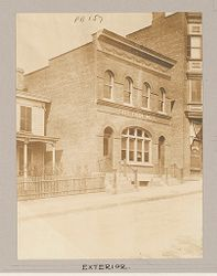 Health, Baths: United States. New York. Yonkers. Municipal Bath Number 2: Public Baths in the United States: Municipal Bath Number 2. Yonkers, New York: Exterior..   Social Museum Collection