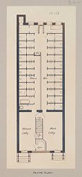Health, Baths: United States. New York. Yonkers. Municipal Bath Number 2: Public Baths in the United States: Municipal Bath Number 2. Yonkers, New York: Floor Plan..   Social Museum Collection