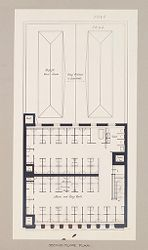 Health, Baths: United States. New York. Brooklyn. Pitkin Avenue Municipal Bath: Public Baths in the United States. Pitkin Avenue. Municipal Bath. Brooklyn, New York: Second floor plan..   Social Museum Collection