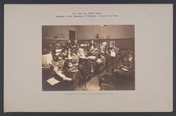 Education, Industrial: United States. New York. New York City. Vacation Schools: New York City Public Schools. Examples of the Adaptation of Education to Special City Needs: Brooklyn Vacation School - Sewing and Mending Lesson..   Social Museum Collection