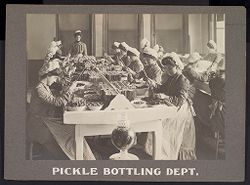 Industrial Problems, Welfare Work: United States. Pennsylvania. Pittsburgh. H. J. Heinz Company: Pickle Bottling Dept..   Social Museum Collection
