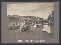 Industrial Problems, Welfare Work: United States. Pennsylvania. Pittsburgh. H. J. Heinz Company: Girls' Roof Garden..   Social Museum Collection