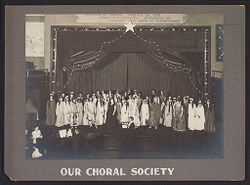 Industrial Problems, Welfare Work: United States. Pennsylvania. Pittsburgh. H. J. Heinz Company: Our Choral Society..   Social Museum Collection