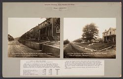 Housing, Industrial: United States. Pennsylvania. Leckrone. H. C. Frick Coke Company: Industrial Housing. Semi-Detached Dwellings. Frame Construction: The H. C. Frick Coke Company. Subsidiary of the United States Steel Corporation.   Social Museum Collection