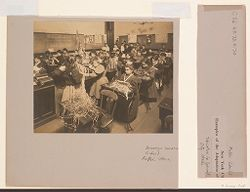 Education, Industrial: United States. New York. New York City. Vacation Schools: New York City Public Schools. Examples of  the Adaptation of Education to Special City  Needs: Brooklyn Vacation School - Raffia Work..   Social Museum Collection