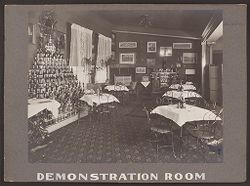 Industrial Problems, Welfare Work: United States. Pennsylvania. Pittsburgh. H.J. Heinz Company: Demonstration Room..   Social Museum Collection