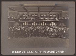Industrial Problems, Welfare Work: United States. Pennsylvania. Pittsburgh. H.J. Heinz Company: Weekly Lecture in Auditorium..   Social Museum Collection