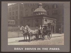 Industrial Problems, Welfare Work: United States. Pennsylvania. Pittsburgh. H.J. Heinz Company: Daily Drives in the Parks..   Social Museum Collection