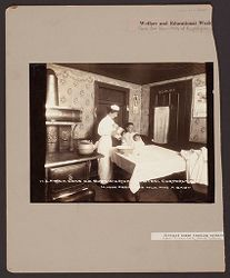 Industrial Problems, Welfare Work: United States. Pennsylvania. Westmoreland County. H.C. Frick Coke Company: Welfare and Educational Work for the Families of Employees: District nurses teaching mothers how to care for their babies..   Social Museum Collection